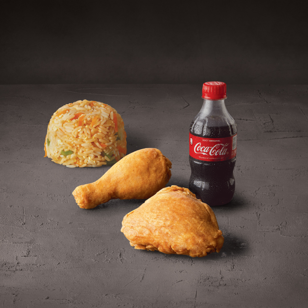 2 PIECES WITH FRIED RICE & 300 ML COKE