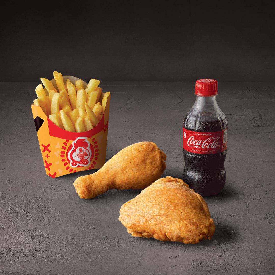 2 PIECES WITH REGULAR CHIPS & 300 ML COKE